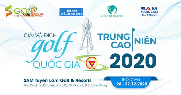 GIẢI VÔ ĐỊCH GOLF TRUNG – CAO NIÊN QUỐC GIA 2020 TRỞ LẠI VÀO THÁNG 12